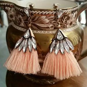 Ballet Humanoid Tassel Earrings Peach